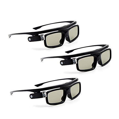 Docooler [3 Stücke GL1800 Projektor 3D-Brille Active Shutter Wiederaufladbare DLP-Link für alle 3D-DLP-Projektoren Optama Acer BenQ ViewSonic Sharp Dell …