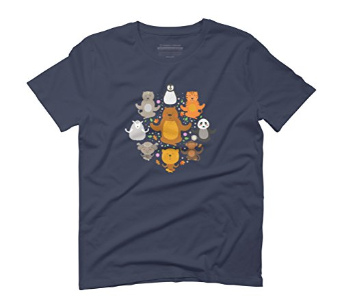 Peaceful Animals Men's Graphic T-Shirt - Design By Humans Navy