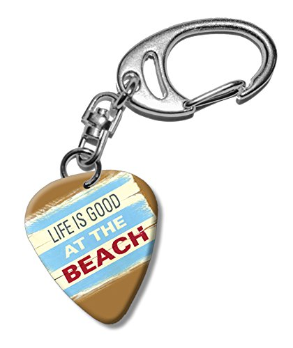 life-is-good-at-the-beach-martin-wiscombe-guitar-pick-keyring-vintage-retro
