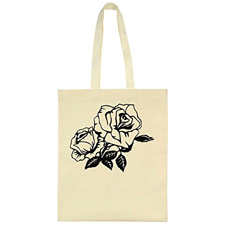 idcommerce Two Beautiful Black And White Roses Tote Bag