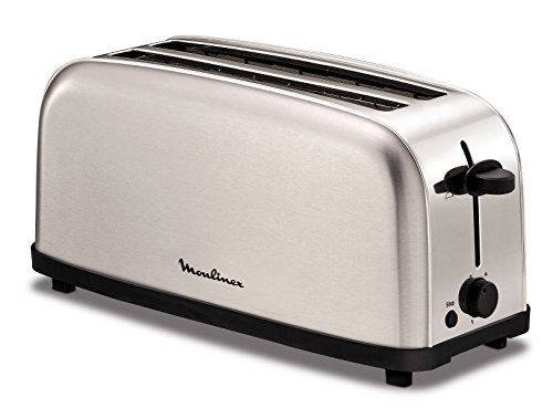 Moulinex ls330d11 4slice(s) 1400w stainless steel toaster - toasters (4 slice(s), stainless steel, stainless steel, y, buttons, rotary, 1400 w)