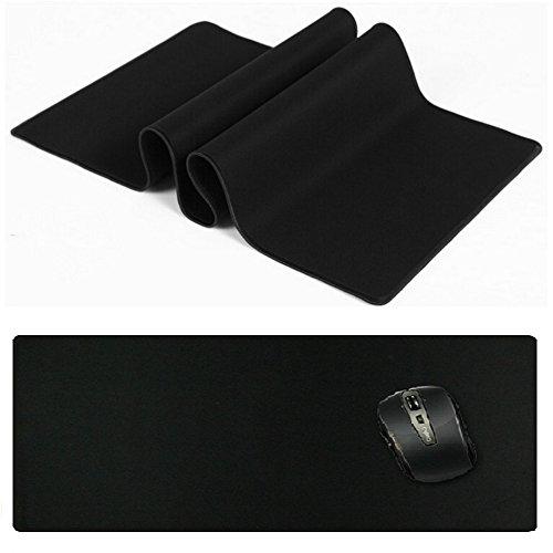 Tappetino mouse, katumo® gaming mouse pad xxl [800x300x3mm] tappetino mouse impermeabile con base in gomma antiscivolo, superficie particolarmente strutturata, supporto per computer, pc e laptop - nero