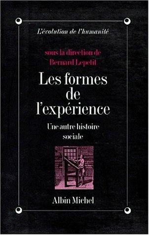 LES FORMES DE L'EXPERIENCE. Une autre histoire sociale