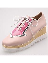 Boca Baja de la Tabla Impermeable con Las Botas de Las Mujeres de la Moda Del Color de la Lucha , rosado , EUR37