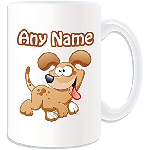 Regalo personalizzato – Tazza grande Happy Dog # 1 (animali, motivo design, colore: