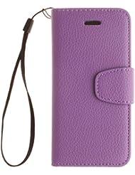 iPhone 7caso, w-pigcase color sólido pu funda de piel con cierre magnético y soporte de tarjeta de ID/crédito integrado función atril Bookstyle Cartera Carcasa Piel portátil carcasa para iPhone 7