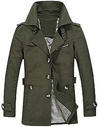 ITISME Homme Manteaux Hiver Parka Veste Chaude Classique Manteau  Décontracté Coat Trench Outwear Slim Long Trench 3a3b1522622