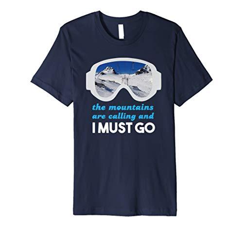 Ski Mountain Calling Skifahrer T-Shirt Skifahren Love Geschenk T-Shirt