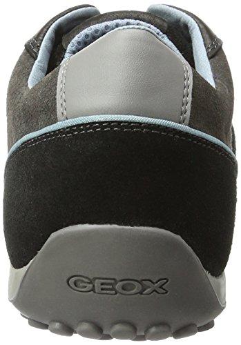Geox Herren Uomo Snake A Sneakers Schwarz (Blackc9999)