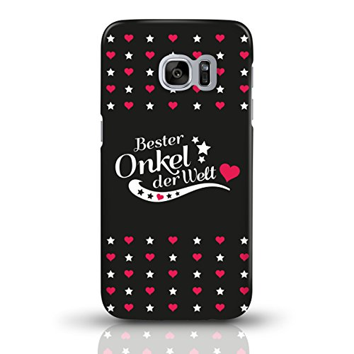 """JUNIWORDS Handyhüllen Slim Case für Samsung Galaxy S7 mit Schriftzug """"Bester Onkel der Welt"""" - ideales Weihnachtsgeschenk für den Onkel - Motiv 3 - Handyhülle, Handycase, Handyschale, Schutzhülle für  motiv 3"""