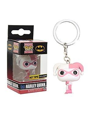 Funko - Porte Clé DC Heroes - Harley Quinn Pink Exclu Pocket Pop 4cm - 0889698098984