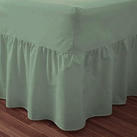 Love2Sleep 50: 50poli algodón: algodón de calidad verde sábana bajera–cama doble tamaño SUPERKING
