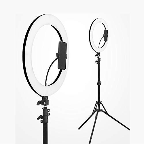 GWJ-14-Zoll Weißes LED Ring Licht mit Licht Stativ Beleuchtung Set Dimmbar 60W 27000-6500K mit Farbfilter, Blitzschuh-Adapter, Handy-Halter Für Make-up, Kamera/Smartphone Youtube Video Aufnahmen
