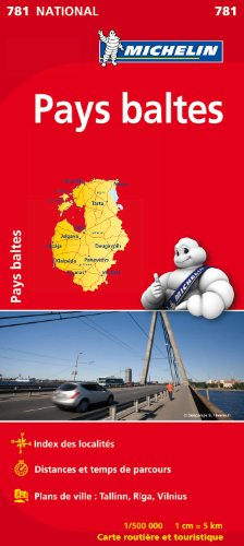 Carte NATIONAL Pays Baltes par Collectif Michelin