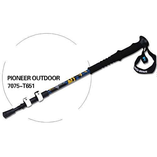 Onezi Oxidation Behandlung Paint Luftfahrt Aluminium Trekking Pole Trekkingstock Gehstock Alpenstocks Outer Locking Plus Samt Wrist Strap Anti-Schock-System Telescopic Poles for Trekking und Wanderung blue£¨1 stick£©