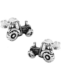earrings single-studs tractor silver 925