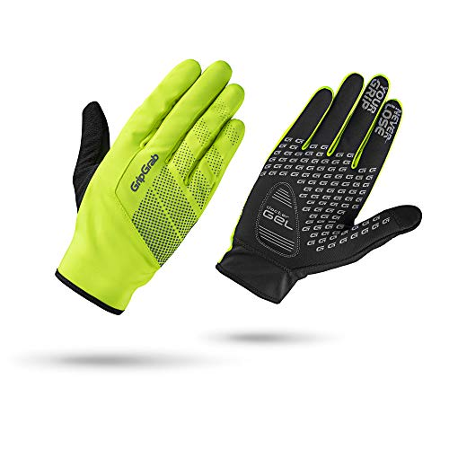 GripGrab Ride Hi-Vis Windproof Midseason Glove Fahrrad Handschuhe Winter, Yellow, XS