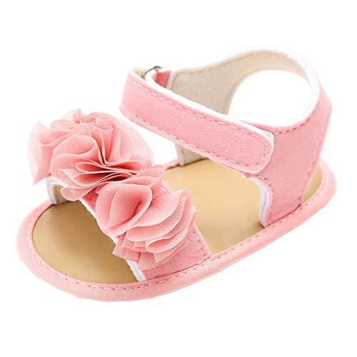 AIni Schuhe Baby Krabbelschuhe Neugeborenes Baby Mädchen Jungen Blume Pailletten Sandalen Erste Wanderer Weiche Sohle Schuhe Sale 2019 Beiläufiges (12,Rosa) (Erste Kleider Baumwolle Die Kommunion)