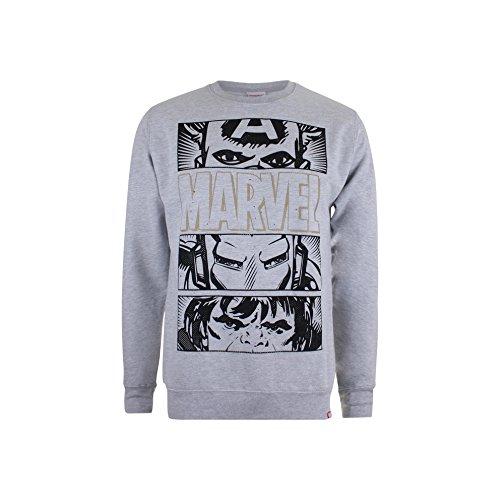 Marvel Herren Sweatshirt Hero Eyes Dark Grey (Sport Grey)