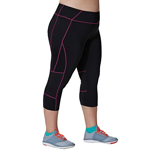 JUXU Sport Damen Plus Performance Capri Legging - - X-Groß -