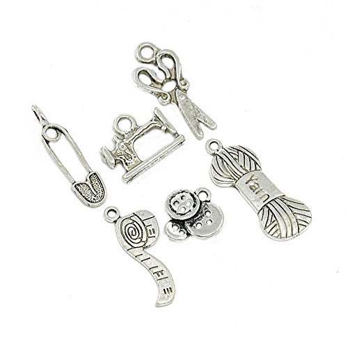 pandahall-30pcs-sewing-knitting-themed-tibetan-style-alloy-charms-pendants-scissor-pipe-safety-pin-y