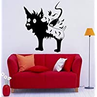 Ajcwhml Pet Grooming Vinyl Animal Dog Haircut Pet Grooming Mural Art Wall Sticker Pet Salon Pet Shop Room Decoration 57X69Cm