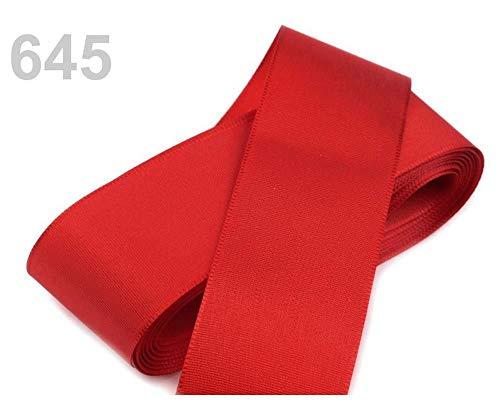 10m 645 Rote Erdbeere Taftband Breite 40mm, Taftbänder - Hergestellt In Tschechien, Kurzwaren