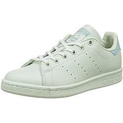 Adidas Stan Smith J, Zapatillas de Deporte Unisex Niños, Verde (Verlin/Verlin/Vertac), 38 2/3 EU