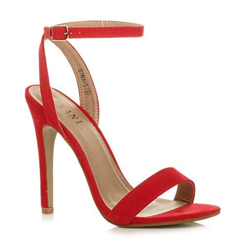 Donna Alto Tacco Partito Fibbia con Cinturino Sandali Scarpe Numero 6 39