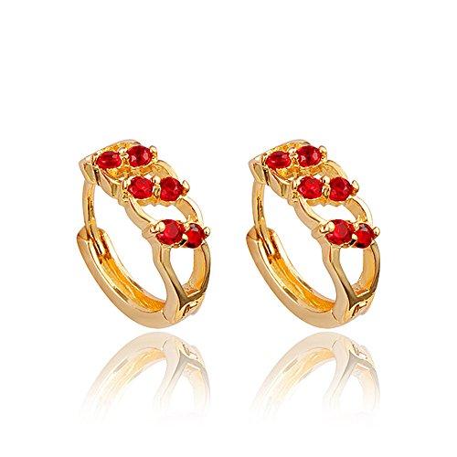 """""""amberma Fancy"""" elegante 18K pendientes diseño de, joyas para mujer, regalo para mujeres niñas amigos"""