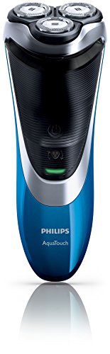 (CERTIFIED REFURBISHED) Philips AT890/16 Aqua Touch Electric Shaver (Black/Blue)