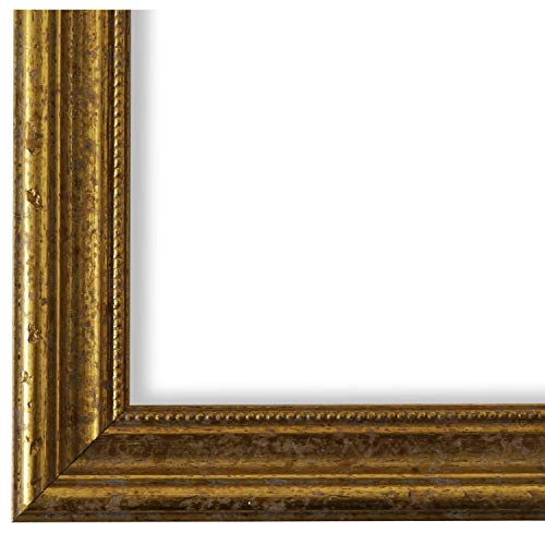 Online Galerie Bingold Bilderrahmen Gold 30 x 40 cm 30x40 - Antik, Barock, Vintage - Alle Größen - handgefertigt in Deutschland - LR - Livorno -