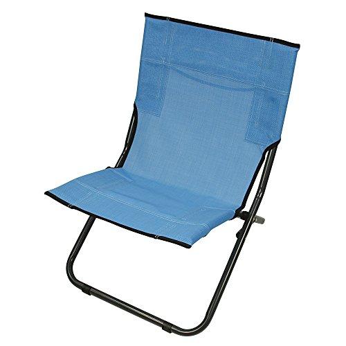 Fridani Strandstuhl BCB XL Campingstuhl Blau Klappstuhl mit Tragegriff luftdurchlässiger Gartenstuhl