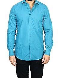 Muga chemise manches longues, Turquoise
