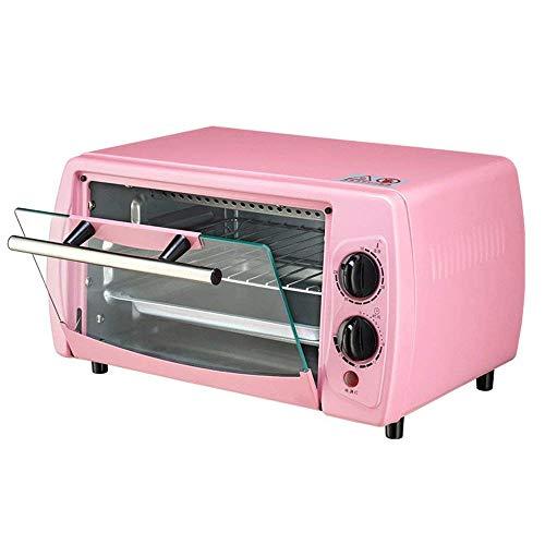 NZ-oven Elektrobackofen, 12L Minibackofen, einstellbares Thermostat, unabhängige Temperaturregelung an den oberen und unteren Rohren, pink