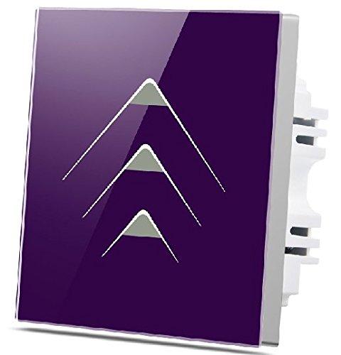 Preisvergleich Produktbild Wallpad C7 weiß Glas Panel Touch-Sensor Wandleuchte Schalter kratzfest,  Empfindliche - 3 Gang 2 Way - violett
