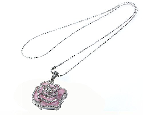 niceeshop(TM) Rosa 8GB Rosa Form Kristall USB Flash Speicher Drive mit Einer Kette