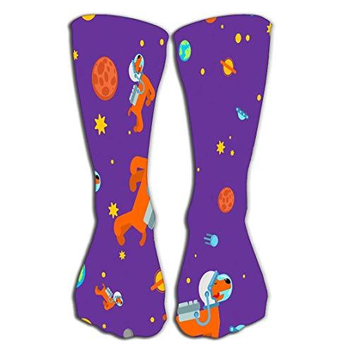 Kostüm Astronaut Plus Für Erwachsenen - AHENANY Outdoor Sports Men Women High Socks Stocking dog astronaut space pattern pet spaceman puppy cosmonaut costume universe textire dog space pattern Ideal Tile length 19.7