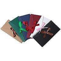 Leisial™ 6pcs Sobres de Colores Papel Postal Tarjeta de Felicitación Retro Creativo para Bolsa Sobre de Regalo Invitación Sobre Ocasión Importante