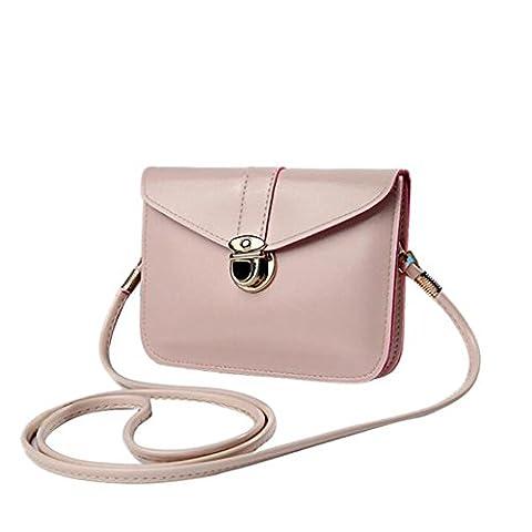 Bluester Fashion Zero Purse Bag Leather Handbag Single Shoulder Messenger Phone Bag (Beige)