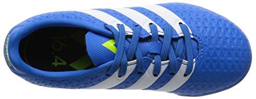 adidas Ace 16.4 Turf J, Scarpe da Calcio Unisex – Bambini Blu (Shock Blue/Ftwr White/Semi Solar Slime)