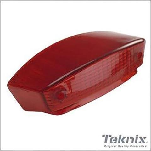 Cabochon vitre feu arrière rouge type origine moto Peugeot 50 XP6 Neuf
