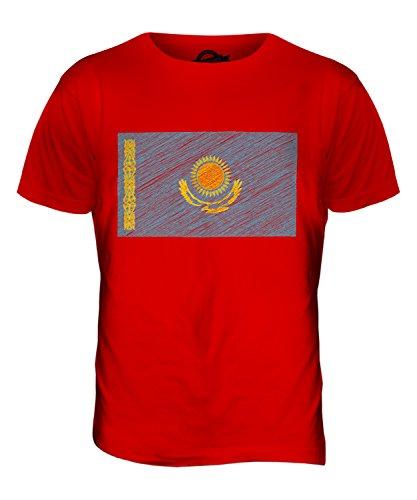 CandyMix Kasachstan Kritzelte Flagge Herren T Shirt Rot