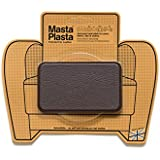 Dark Brown MastaPlasta Self-Adhesive Leather Repair Patches. Choose size/design. First-aid for sofas, car seats, handbags, jackets etc. (DARK BROWN PLAIN 10cmx6cm)