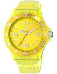 Ice-Watch Unisex-Armbanduhr Medium Small Ice-Jelly Gelb JY.YT.U.U.10