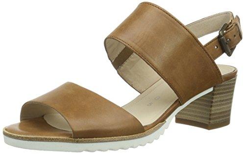 Gabor Shoes 42.385 Damen Offen Sandalen ,Braun (54 peanut (S.weiss)) ,40 EU