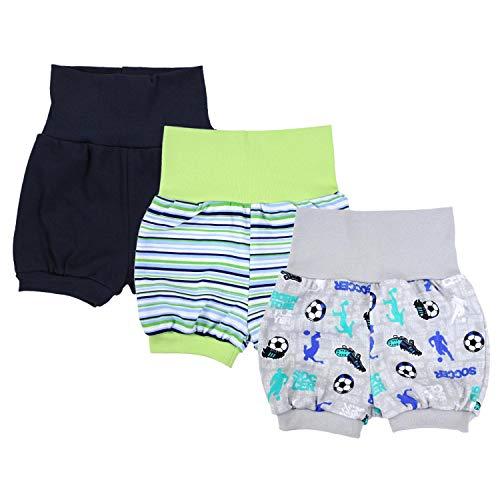 TupTam Baby Unisex Kurze Pumphose Sommershorts 3er Pack, Farbe: Junge, Größe: 92/98