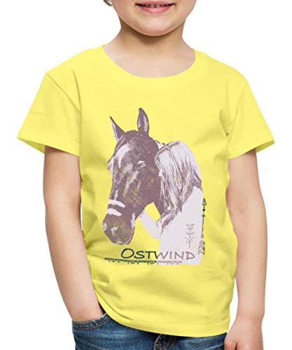 Spreadshirt OSTWIND Aufbruch Nach Ora Pfeil Und Feder Kinder Premium T-Shirt, 110/116 (4 Jahre), Gelb (Feder 4 Pfeil)