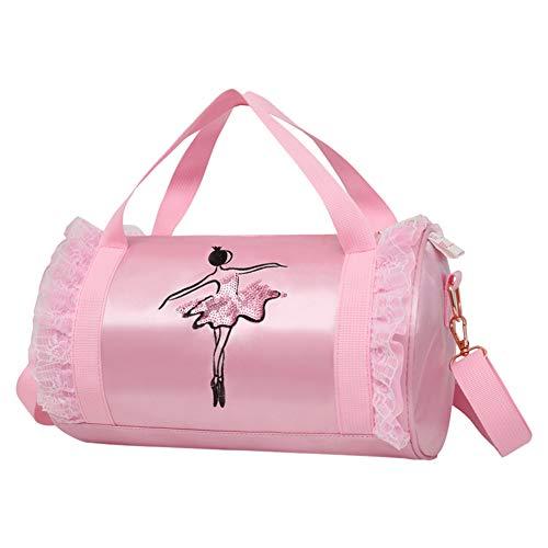 Meijunter Kleinkind Ballett Tasche - Ballerina Duffle Bag Tanzen Umhängetasche Portable Carry Handtasche Casual Rucksack Student Reisetasche für Ballettschuhe Trikot
