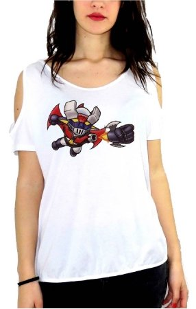 JOHNNY DEERS SHIRT FEMME ROBOT JAPONAIS MANGA CARTOON DESSIN ANIME A176 GGG57 GRIS S